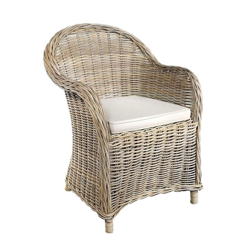 Rattan Arm Chair Rattan Armchair Rattan Chair Dining – Dgsports (View 4 of 20)
