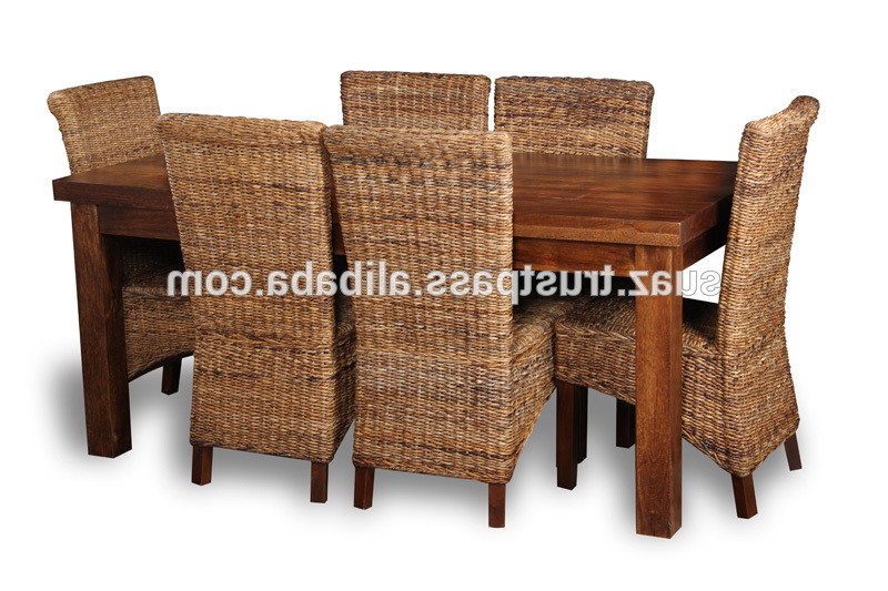 Rattan Dining Tables And Chairs Throughout Well Known Cane Dining Table,living Room Furniture,custom Cane Furniture,bamboo (View 15 of 20)