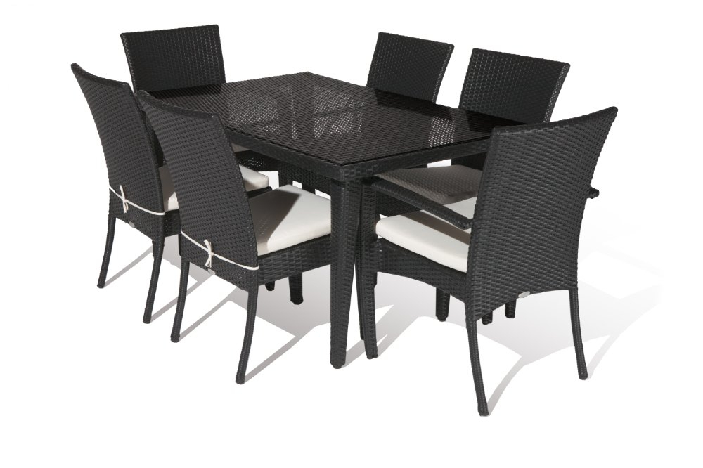 Rattan Dining Tables In Recent Aluminium Outdoor Pe Rattan Economic Dining Table Set In Garden Sets (View 14 of 20)