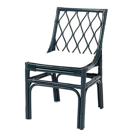 Rattan Side Chair Designs Rattan Dining Chairs Set Of 2 Navy Or Inside Trendy Magnolia Home Entwine Rattan Side Chairs (View 17 of 20)