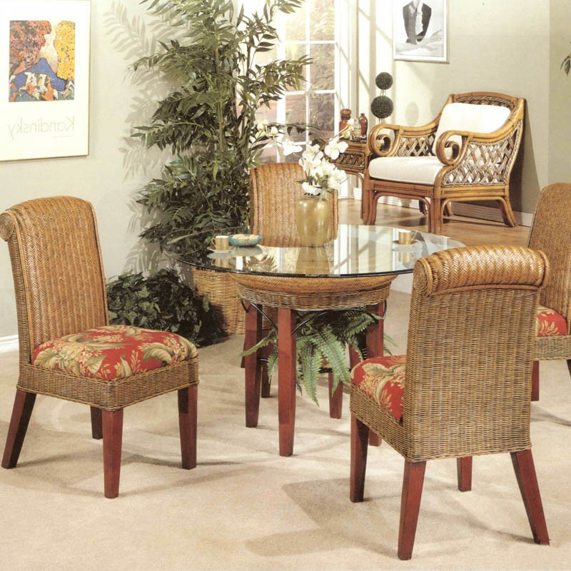 Rattan Wicker Dining Set Pertaining To Best And Newest Rattan Dining Tables And Chairs (View 10 of 20)