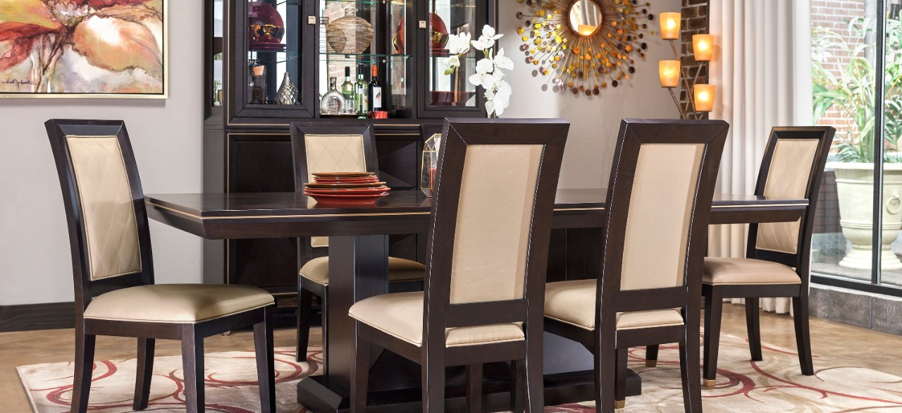 Raymour & Flanigan With Famous Palazzo 3 Piece Dining Table Sets (View 5 of 20)