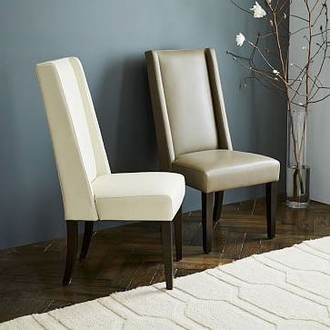 Real Leather Dining Chairs For 2017 West Elm Willoughby Leather Dining Chair (View 13 of 20)