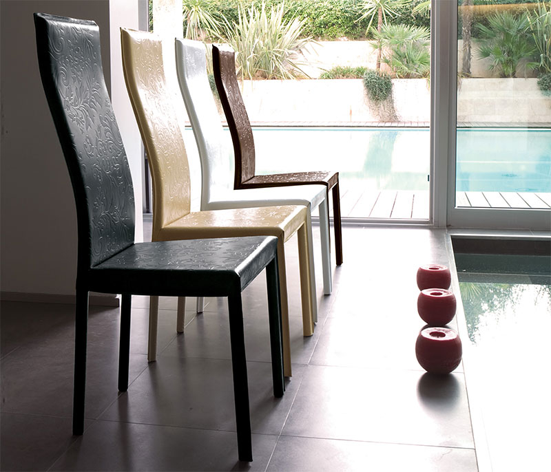 Real Leather Dining Chairs Intended For 2017 Modern Unico Onda Real Leather Dining Chair Choice Of Colour (Gallery 6 of 20)