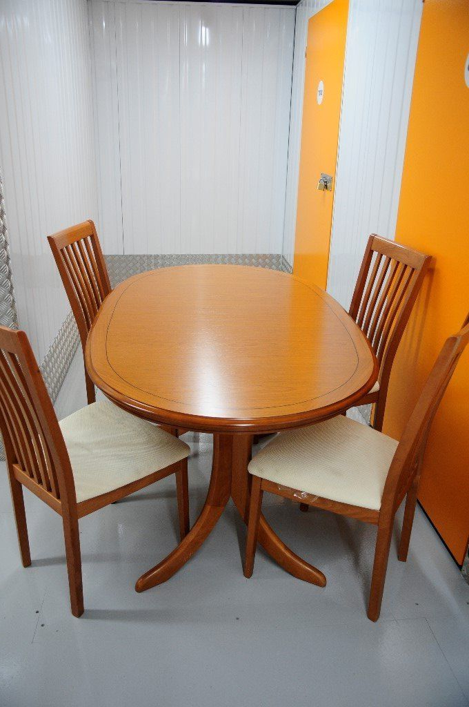 Recent Beautiful Vintage Windsor Extending Dining Table And Four Chairs For Glasgow Dining Sets (View 9 of 20)