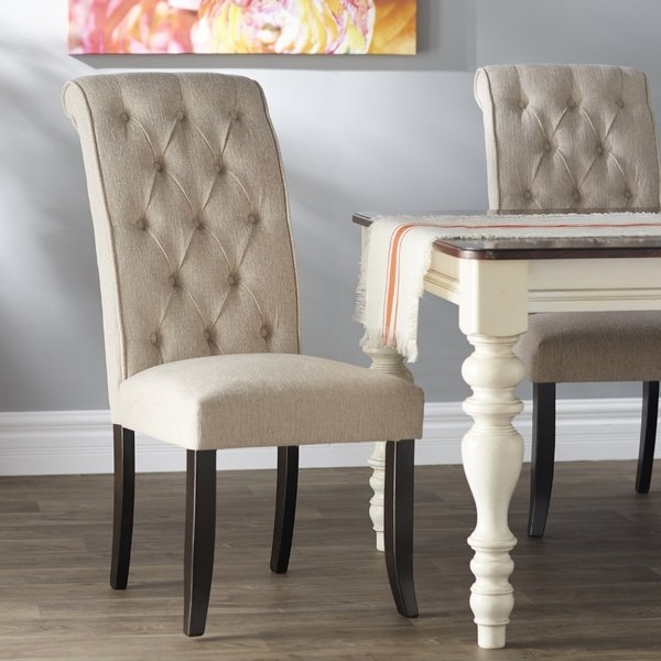 Recent Burton Metal Side Chairs With Wooden Seat Within Signature Designashley Carville Tufted Side Chair & Reviews (View 12 of 20)