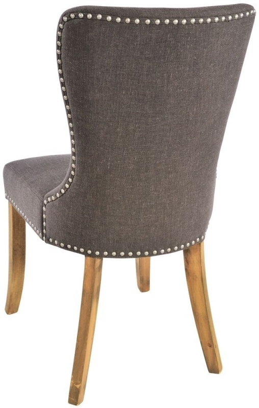 Recent Buy Adelf Button Back Tiara Grey Fabric Dining Chair (Pair) Online Pertaining To Button Back Dining Chairs (View 16 of 20)