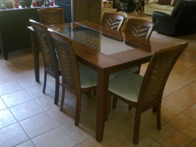 Recent Cheap Dining Sets With Dining Room Designs: Manila Cheap Dining Room Set 6 Chairs, Adjust (Gallery 11 of 20)