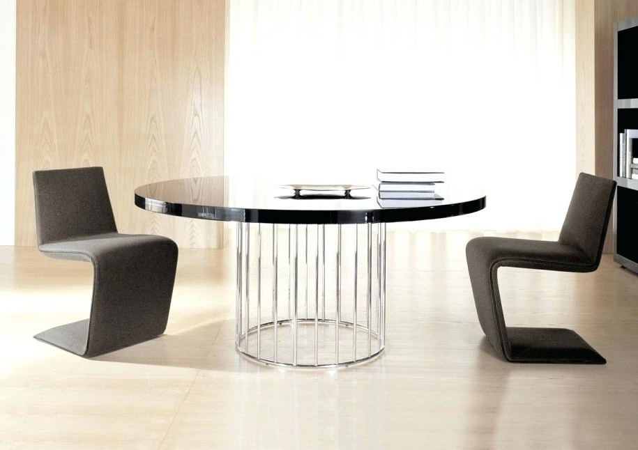 Recent Circular Dark Wood Dining Table Round Wooden Solid Tables Nice Home Throughout Black Circular Dining Tables (View 13 of 20)