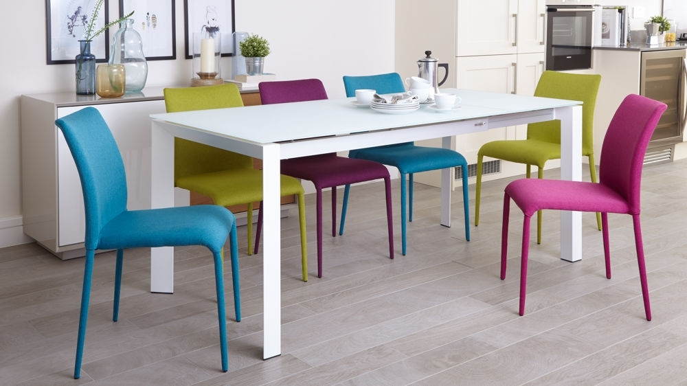 Recent Colourful Dining Tables And Chairs Throughout Colored Dining Room Chairs – Domainmichael (Gallery 15 of 20)