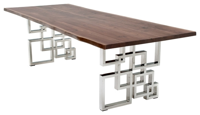 Recent Contemporary Base Dining Tables With Dining Table With Modern Geometric Base – Contemporary – Dining (View 16 of 20)