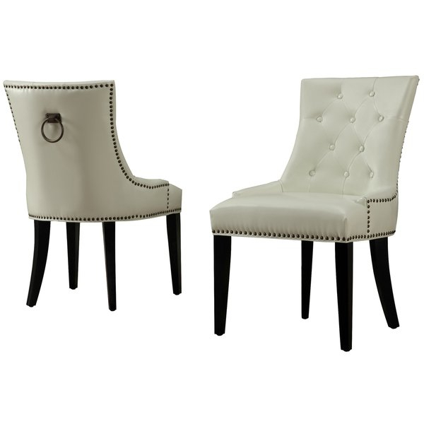 Recent Cream Leather Dining Chairs Inside Shop Uptown Cream Leather Dining Chair – Free Shipping Today (View 14 of 20)