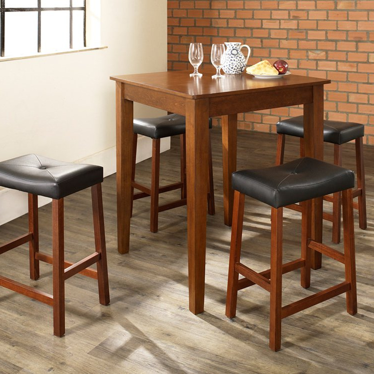 Recent Crosley 5 Piece Pub Dining Set With Tapered Leg And Upholstered Within Market 5 Piece Counter Sets (View 14 of 20)