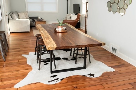 Recent Custom Live Edge Acacia Dining Table (View 18 of 20)