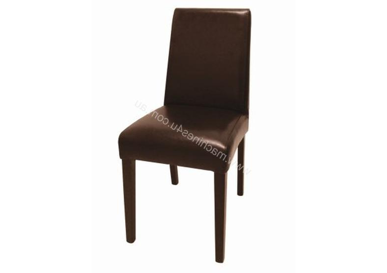 Recent Dark Brown Leather Dining Chairs Within New Bolero Bolero Faux Leather Dining Chair Dark Brown Pack 2 Cafe (View 17 of 20)
