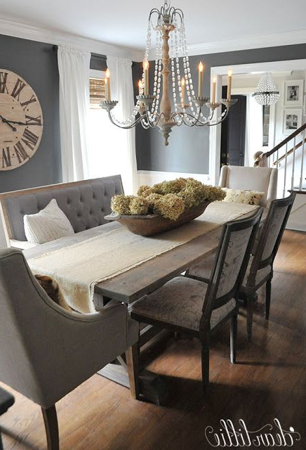 Recent Dark Dining Room Tables Inside Unexpected Seating Like This Bench From @homegoods Help Add (Gallery 20 of 20)