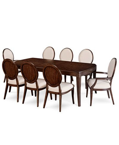 Recent Delfina Dining Tables With Regard To Delfina Dining Furniture, 9 Pc. Set (Expandable Leg Dining Table, 6 (Gallery 1 of 20)
