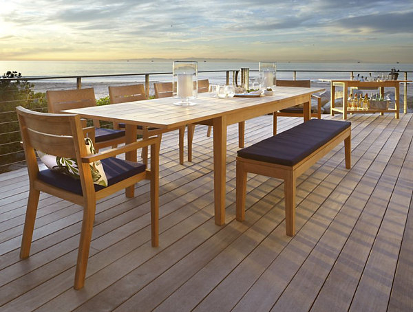 Recent Dining Room Designs: Expandable Outdoor Dining Table, Ah?ap 100 Kare For Outdoor Extendable Dining Tables (View 18 of 20)