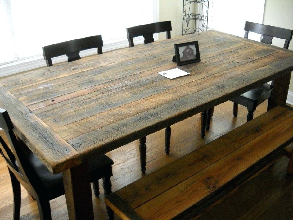 Recent Dining Room Farmhouse Table And Chairs With Bench Skinny Farmhouse Regarding Barn House Dining Tables (View 14 of 20)