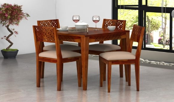 Recent Dining Sets For Dining Table Sets: Buy Wooden Dining Table Set Online @ Low Price (View 6 of 20)
