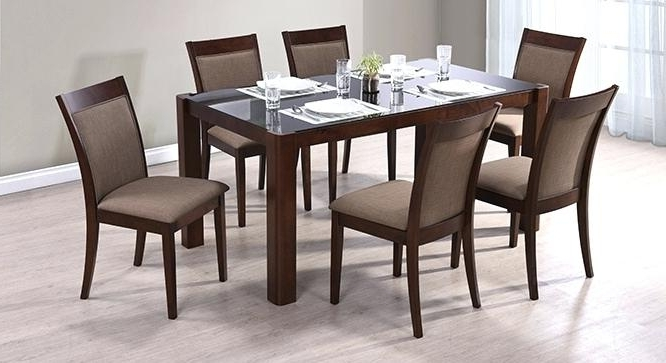 Recent Dining Table Design 6 Seater 6 Wooden Dining Tables And Chairs Buy 6 Pertaining To 6 Seat Dining Tables (Gallery 9 of 20)
