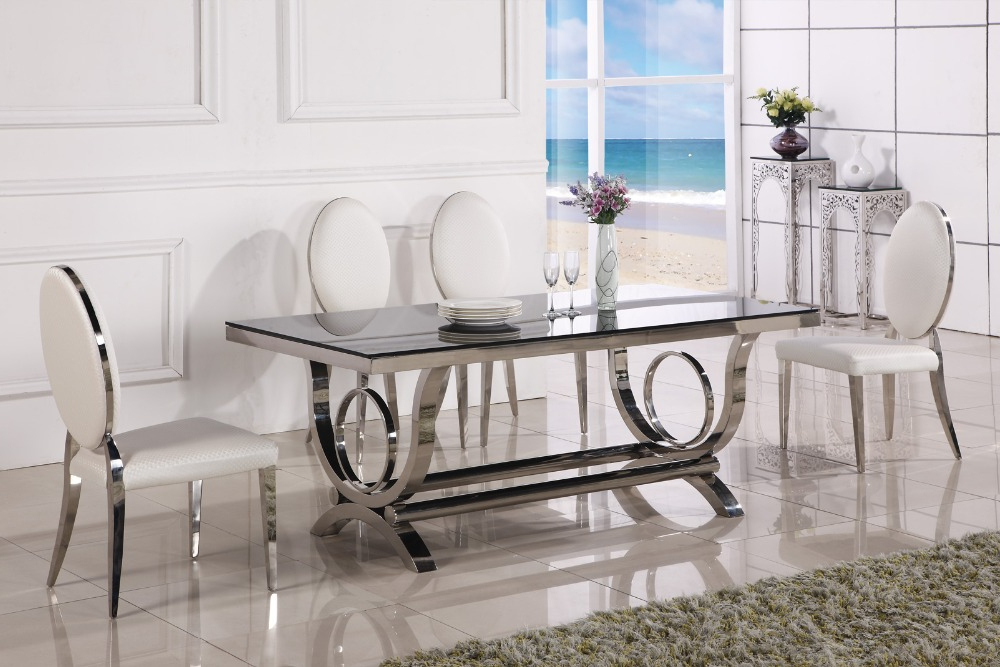 Recent Dining Table Marble And Chair Cheap Modern Dining Tables 6 Chairs In Intended For Modern Dining Sets (View 14 of 20)
