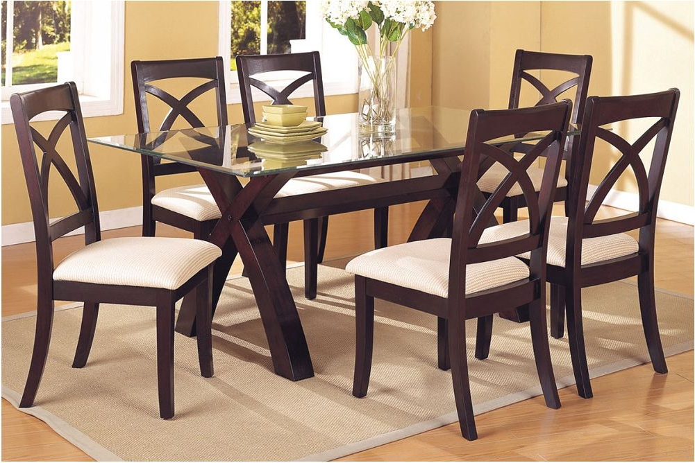 Recent Dining Table Sets With 6 Chairs With Regard To Nice Glass Dining Tables Sets Table Design Style With Glass Dining (View 16 of 20)