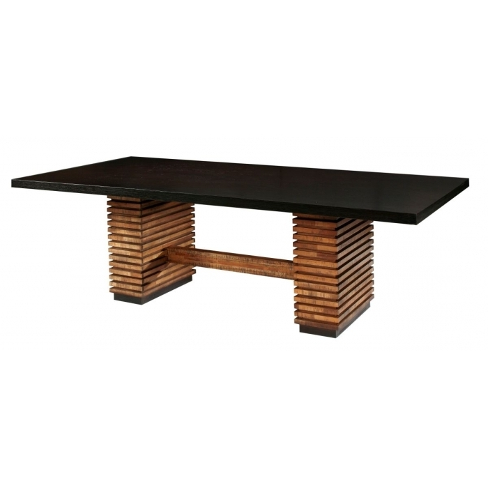 Recent Dining Tables: Glamorous Rectangular Pedestal Dining Table Pedestal Regarding Caira Extension Pedestal Dining Tables (View 17 of 20)