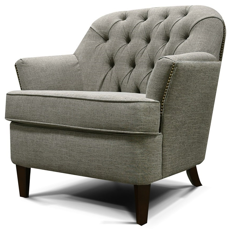 Recent England Teagan 4p04no Tufted Back Chair With Traditional Style For Teagan Side Chairs (View 9 of 20)