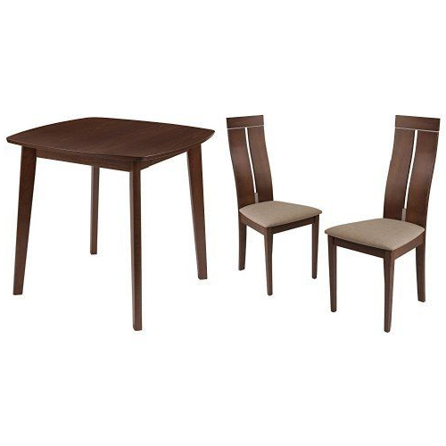 Recent Flash Furniture Glocester 3 Piece Walnut Wood Dining Table Set With Pertaining To Jaxon 5 Piece Extension Counter Sets With Wood Stools (View 17 of 20)