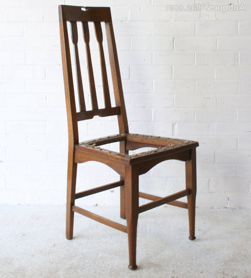 Recent Four Arts & Crafts Glasgow School Dining Chairs – Antiques Atlas Throughout Glasgow Dining Sets (Gallery 20 of 20)