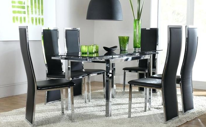 Recent Glass Dining Tables Sets Inside (View 4 of 20)