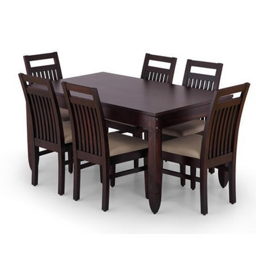 Recent Grey, Black Six Seater Dining Table Set, Rs 32000 /unit, Mrk Throughout Dining Tables 120x (View 16 of 20)
