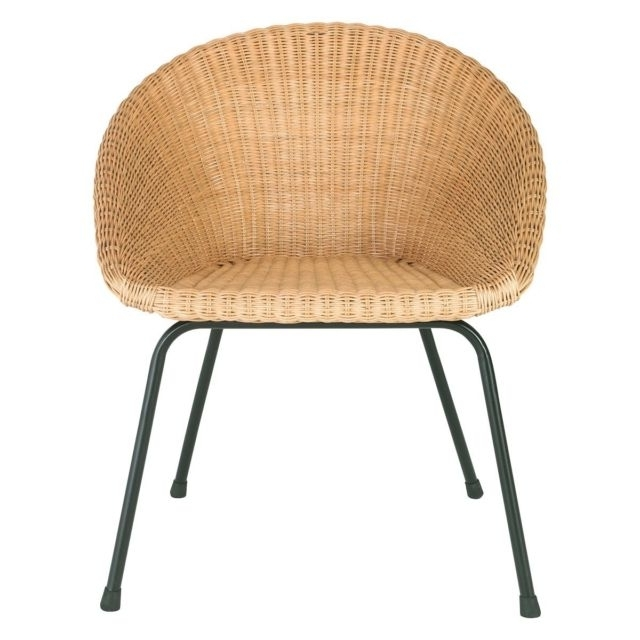 Recent Habitat Feliz Natural Dining Rattan Oak Chair On Metal Legs 778284 Intended For Natural Rattan Metal Chairs (View 6 of 20)