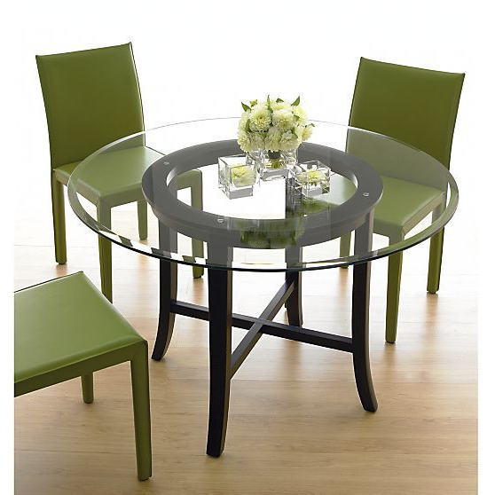 """Recent Halo Ebony Round Dining Table With 42"""" Glass Top (View 7 of 20)"""
