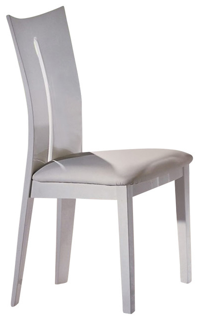 Recent High Gloss White Dining Chairs, Set Of 2 – Modern – Dining Chairs Intended For High Gloss White Dining Chairs (Gallery 1 of 20)