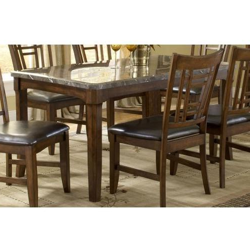 Recent Hillsdale Patterson Rectangle Marble Top Dining Table – Dark Oak With Patterson 6 Piece Dining Sets (View 11 of 20)