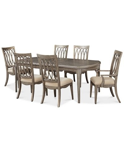 Recent Kelly Ripa Home Hayley 7 Pc. Dining Set (Dining Table, 4 Side Chairs Pertaining To Candice Ii 5 Piece Round Dining Sets With Slat Back Side Chairs (Gallery 5 of 16)