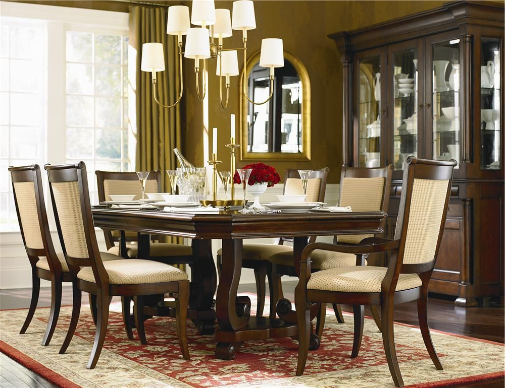 Recent Laurent 7 Piece Rectangle Dining Sets With Wood And Host Chairs Within Louis Philippe 7 Piece Dining Room Setbassett (View 17 of 20)