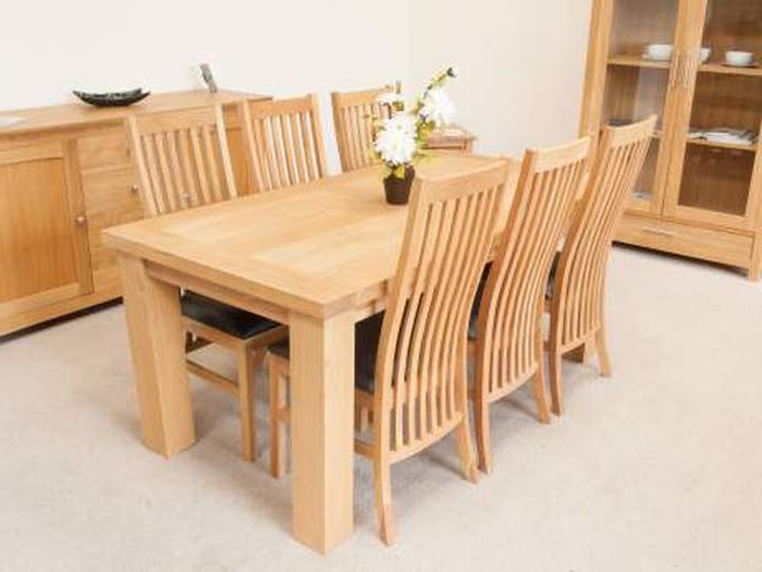 Recent Light Oak Dining Tables And Chairs With Regard To  (View 18 of 20)