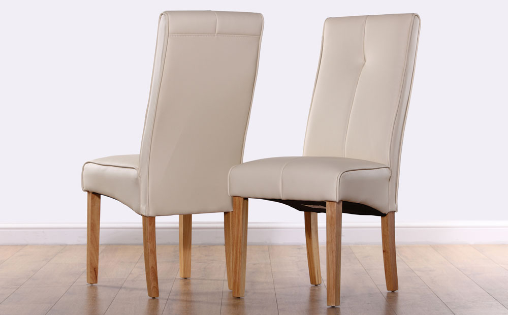 Recent Logan Ivory Leather Dining Chair Oak Leg Only White Leather Dining Throughout Oak Leather Dining Chairs (View 6 of 20)