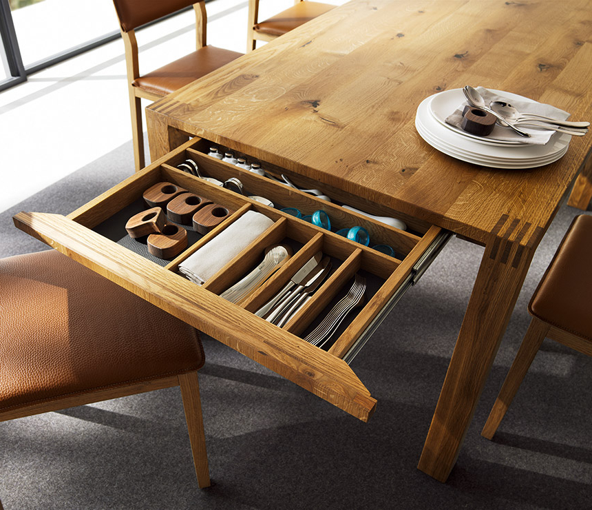 Recent Luxury Solid Wood Table – Loft Team 7 – Wharfside For Extending Solid Oak Dining Tables (View 14 of 20)