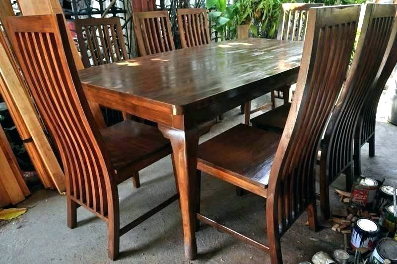 Recent Mahogany Dining Table Sets Inside Mahogany Dining Table And Chairs Mahogany Dining Table And Chairs (View 17 of 20)