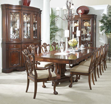 Recent Mahogany Dining Tables Sets Throughout Mahogany And More Antebellum Collection – Heritage Mahogany 13 Piece (View 20 of 20)