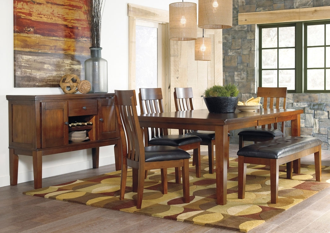 Recent Majek Furniture Ralene Rectangular Extension Table W/4 Upholstered For Craftsman Upholstered Side Chairs (View 16 of 20)