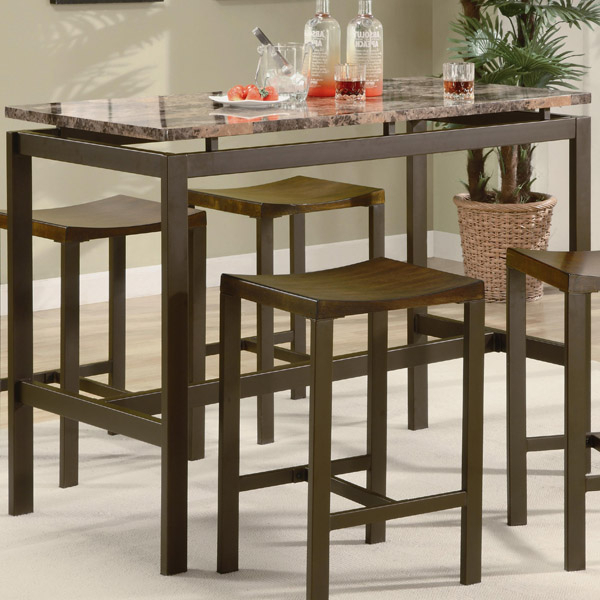Recent Market 5 Piece Counter Sets With Santa Clara Furniture Store, San Jose Furniture Store, Sunnyvale (View 8 of 20)