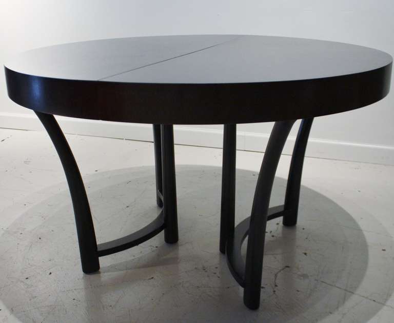 Recent Modern Black Round Dining Table – Oceansafaris Within Dark Round Dining Tables (Gallery 7 of 20)