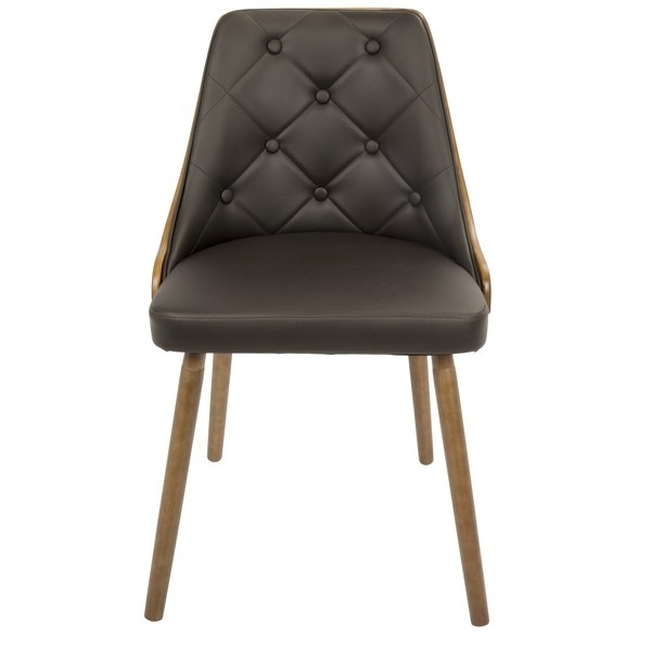 Recent Natural Brown Teak Wood Leather Dining Chairs Pertaining To Modern & Contemporary Taupe Dining Chair (View 11 of 20)