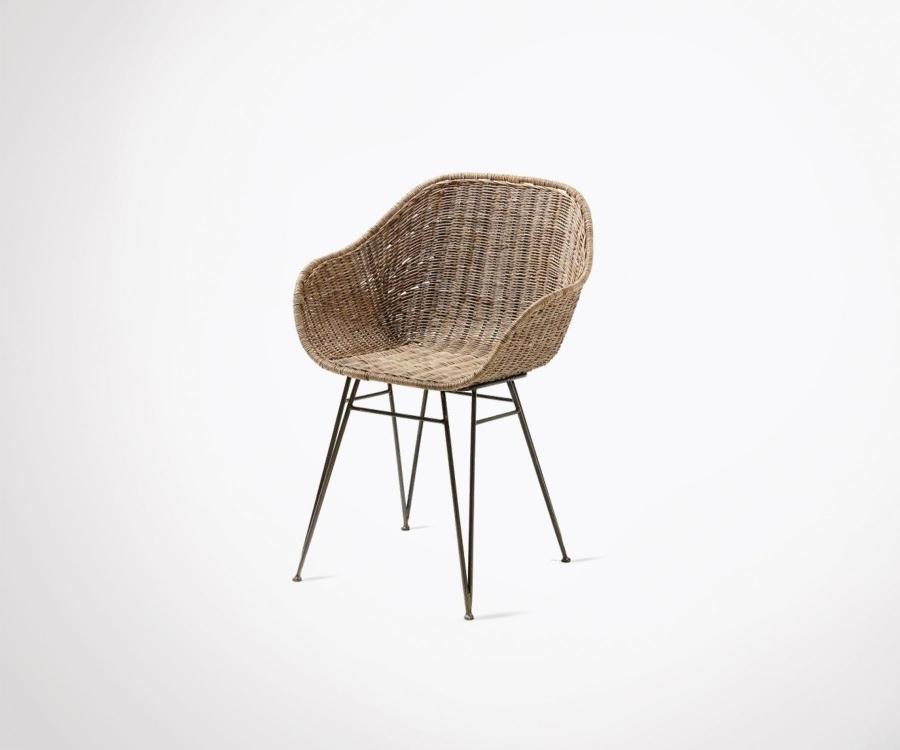 Recent Natural Rattan Metal Chairs Inside Natural Rattan Design Chair Metal Legs – Outdoor/indoor – Best Design (View 8 of 20)