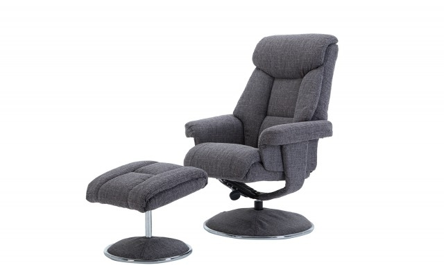 Recent Orion – Swivel Chair And Stool In Lisbon Grey – All Chairs – Fishpools Within Orion Side Chairs (View 15 of 20)